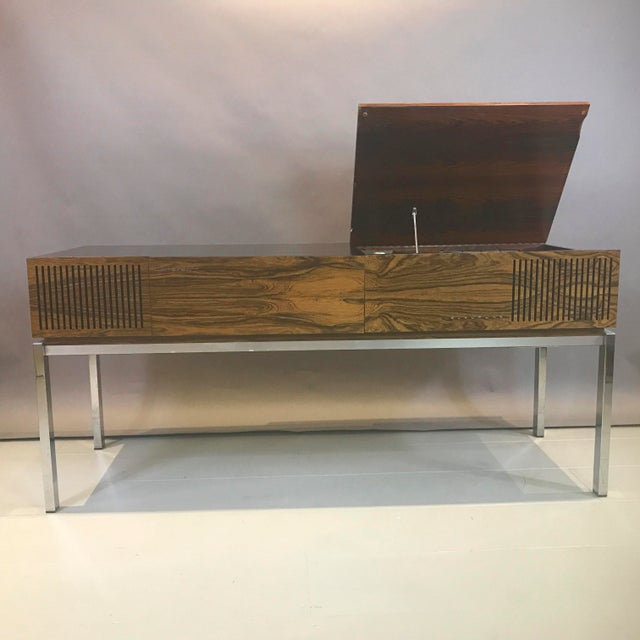 """Mid-Century Modern 1970s Blaupunkt GmbH """"Arizona"""" Rosewood & Chrome Stereo Console For Sale - Image 3 of 13"""