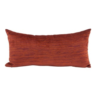 Orange Texture Bolster Pillow from Kenneth Ludwig Chicago For Sale