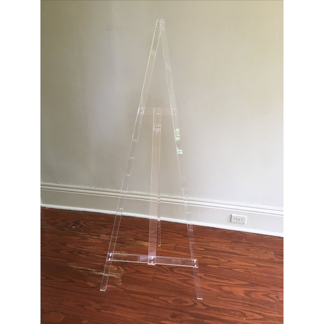 Fabulous vintage acrylic easel is a work of art in its own right! It's adjustable making it a perfect fit for displaying...