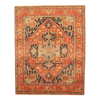 """Pasargad Serapi Wool Area Rug - 5' 1"""" X 6'10"""" For Sale"""