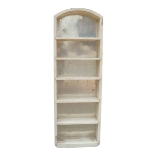 Farmhouse Chic Wall Shelf With Tin Mirror Backer For Sale
