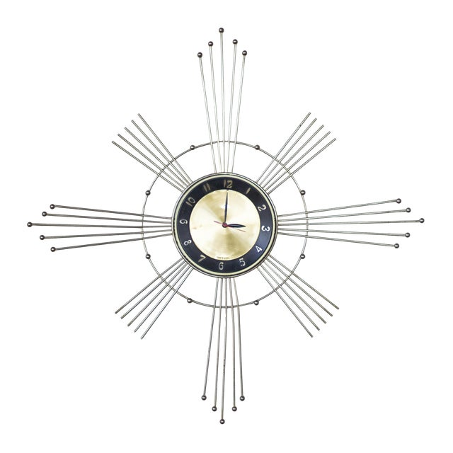 Lux Starburst Wall Clock For Sale