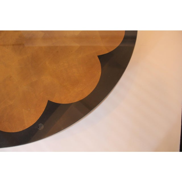 Asian 1950s Mid-Century Modern James Mont-Style Gilded Cocktail Table For Sale - Image 3 of 6
