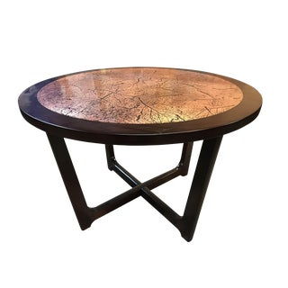 Modern Copper & Redwood End Table
