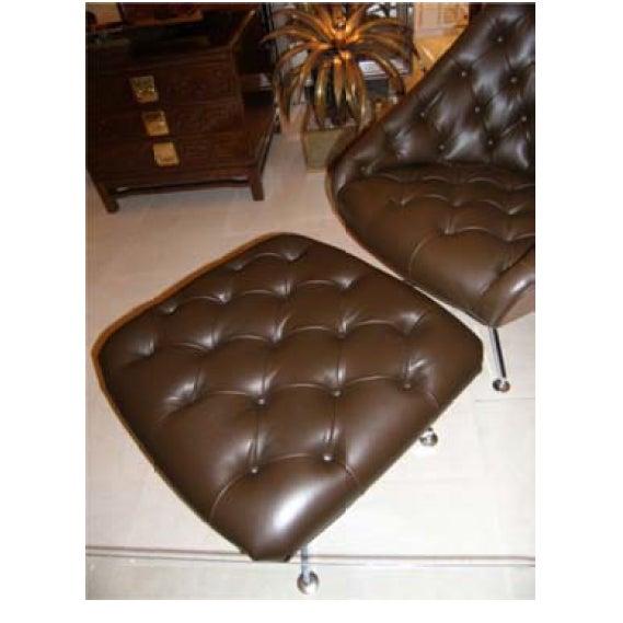 Milo Baughman Chair and Ottoman Set - Image 4 of 5