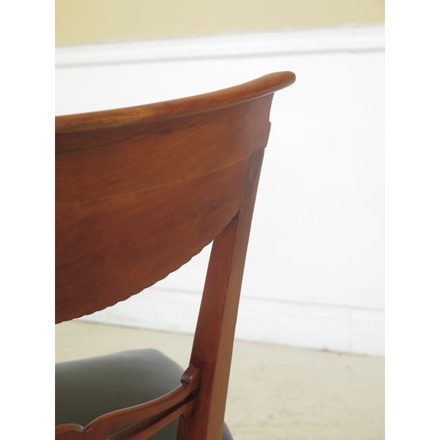Green 1940s Vintage Biedermeier Style Cherry Side Chair For Sale - Image 8 of 10
