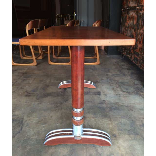 French Art Deco Bistro Dining Table - Image 4 of 11