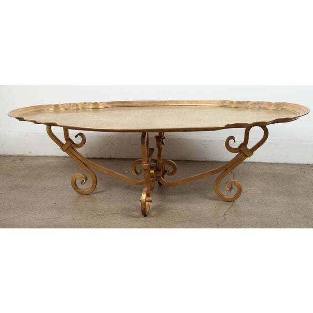 Hollywood Regency Hollywood Regency 1970s Brass Tray Table by Baker For Sale - Image 3 of 10