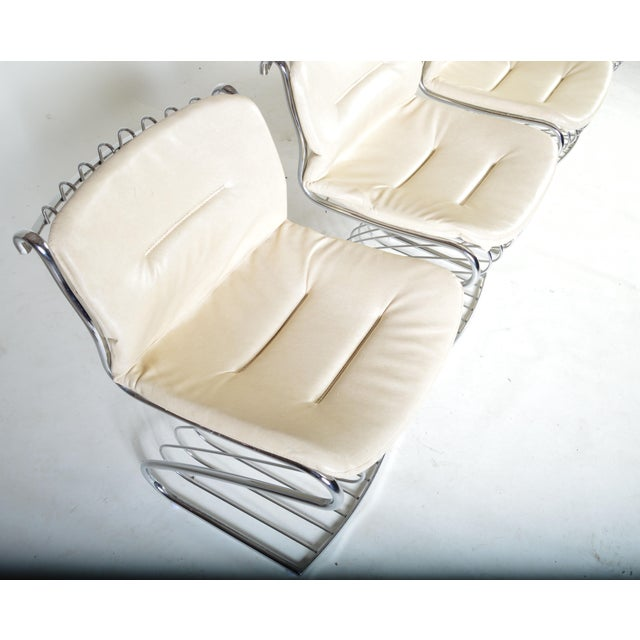 Italian Gastone Rinaldi for Rima of Italy Mid Century Chrome Dining Chairs - Set of 6 For Sale - Image 3 of 5