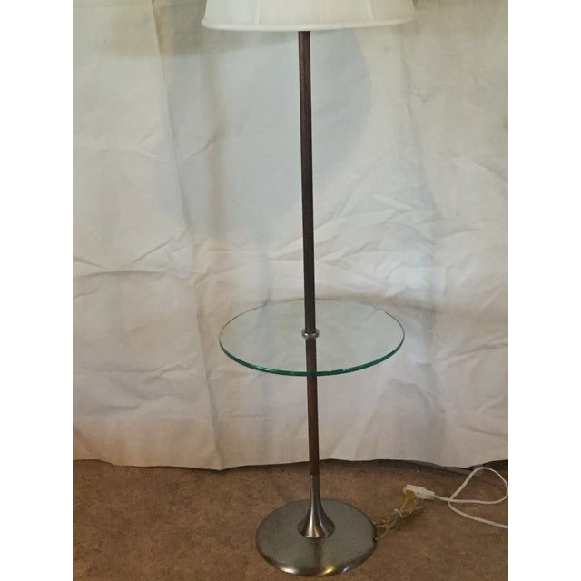 1960s Iconic Tulip Base Walnut Floor Lamp For Sale - Image 9 of 12