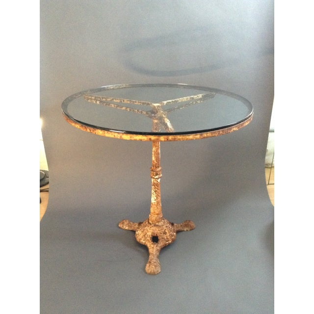Antique Cast Iron Outdoor Dining Table - Image 2 of 7