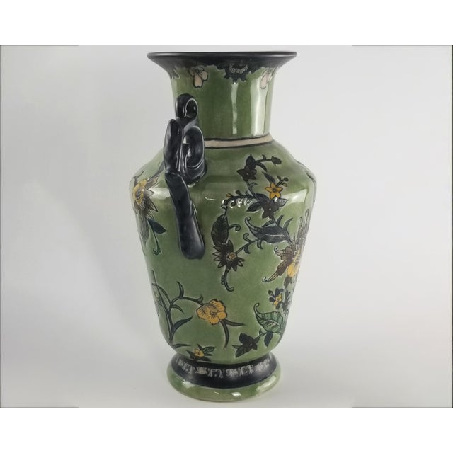 Victorian Monumental Baum Bros Vase - Jacobean Urn With Handles For Sale - Image 3 of 13