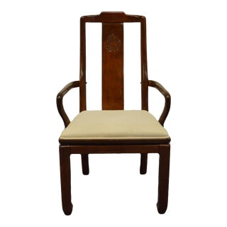 Universal Furniture Asian Modern Dining Arm Chair For Sale
