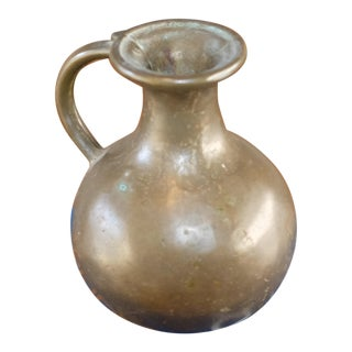 Antique Bronze Vessel With Verdigris Patina For Sale