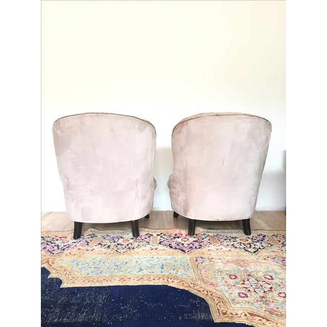 Channel Back Lounge Chairs - A Pair - Image 4 of 5