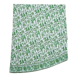 Aria Round Tablecloth - Green For Sale