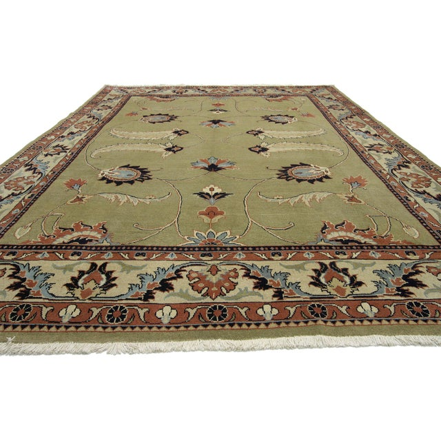 Traditional Vintage Persian Mahal Rug Inspired by William Morris - 08'05 X 12'00 For Sale - Image 3 of 6