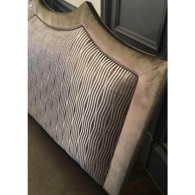 Absolutely gorgeous custom settees in Zinc fabrics (shai taupe velvet, serra linen velvet and snap truffle). These would...