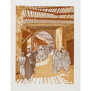 Guillaume Azoulay, Passers By, Etching For Sale