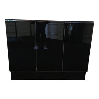 Ello Black Glass Cabinet For Sale