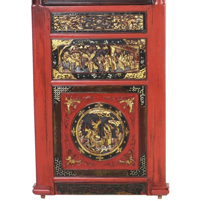 Late 20th Century Chinese Opium Wedding Bed Intricately Carved Panel For Sale - Image 5 of 13