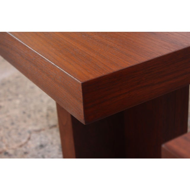 Pair of Milo Baughman 'Cruciform' End Tables For Sale - Image 11 of 13