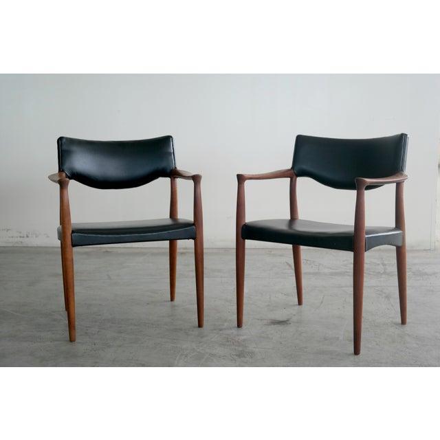 Bender Madsen Mid-Century Teak Chairs - A Pair - Image 2 of 8