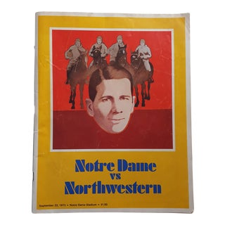 1970s Vintage Notre Dame Northwestern Football Program For Sale