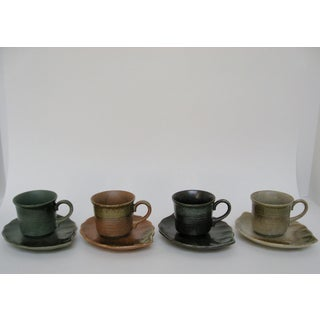 Japanese Hand-Glazed Stoneware - 8 Pieces Preview