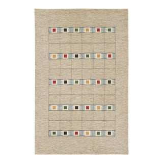 20th Century Swedish Flat Weave Rug- 6′3″ × 9′10″ For Sale