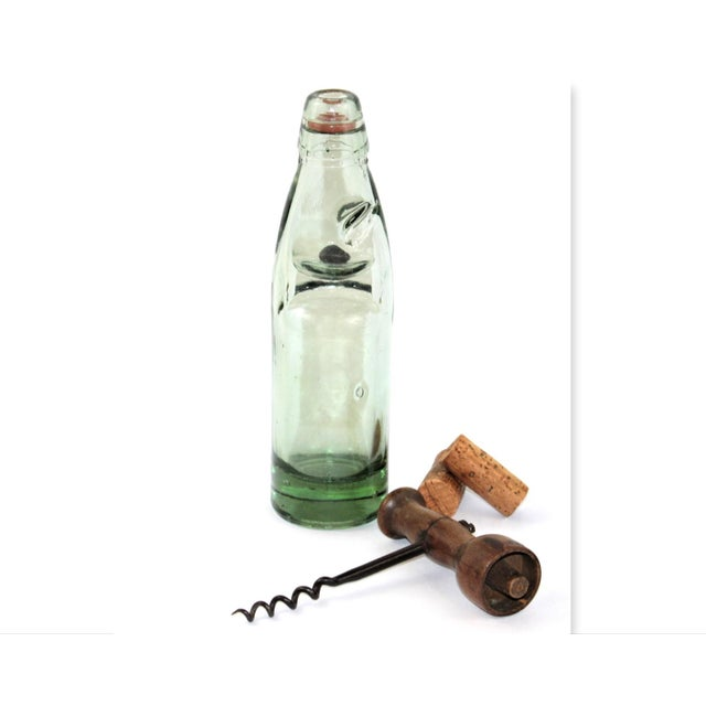 Antique English Codd Bottle With Codd Bottle Opener, Corkscrew - a Pair For Sale - Image 9 of 9