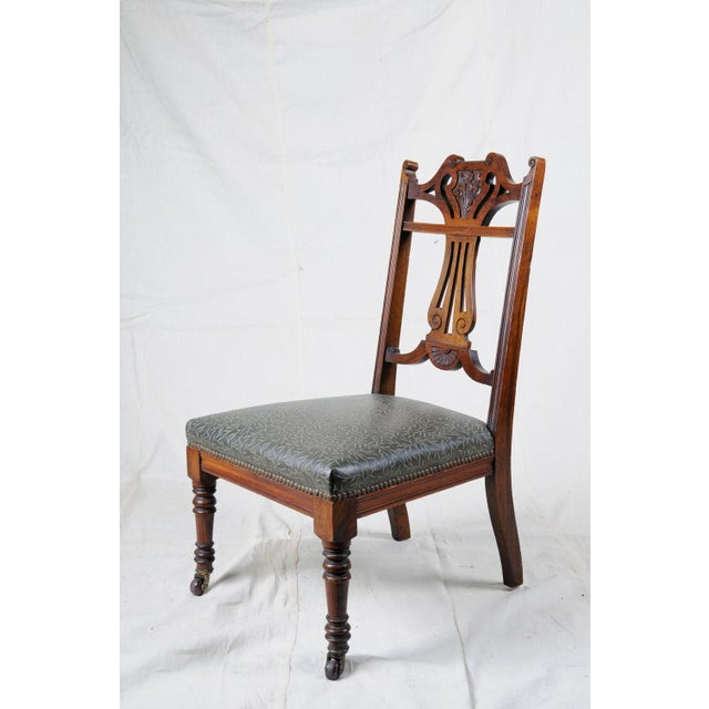 Late 19th Century 19th Century Art Nouveau Slipper Chair, Accent Piece For Sale - Image 5 of 5