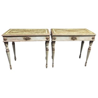 Pair of Italian Neoclassical Painted Consoles, Late 18th Century For Sale