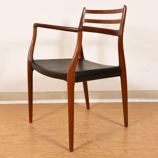 Mid 20th Century Møller Danish Modern Teak Dining Chairs- Set of 4 For Sale - Image 5 of 10