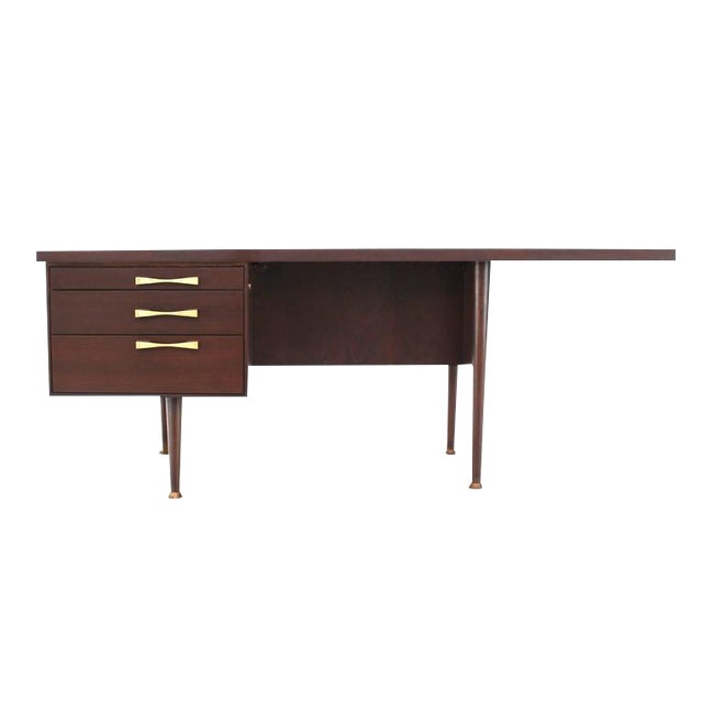 Large Executive Three-Drawer Desk or Writing Table For Sale