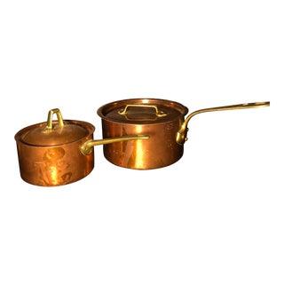 Paul Revere and Jean Matillin Copper Pots - a Pair For Sale