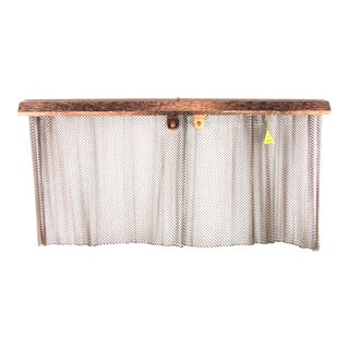 Midcentury Modern Copper Fireplace Screen