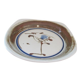 Mid Century Ceramic Serving Bowl by Dansk International Designs Japan For Sale
