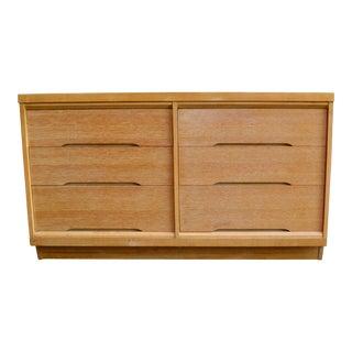 Mid Century Modern Blonde Double Dresser For Sale