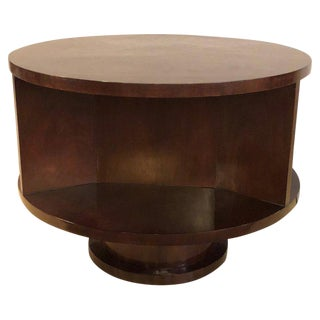Ralph Lauren Round Mahogany Coffee or End Table For Sale