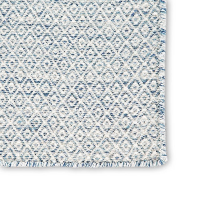 Contemporary Jaipur Living Glace Handmade Geometric Light Blue/ Ivory Area Rug - 2′ × 3′ For Sale - Image 3 of 6