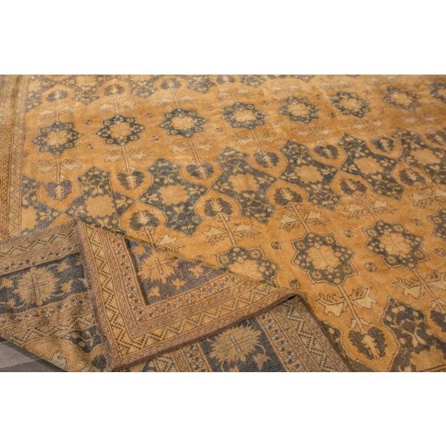 """Traditional Apadana - Vintage Afghan Rug, 13'1"""" x 16'7"""" For Sale - Image 3 of 7"""