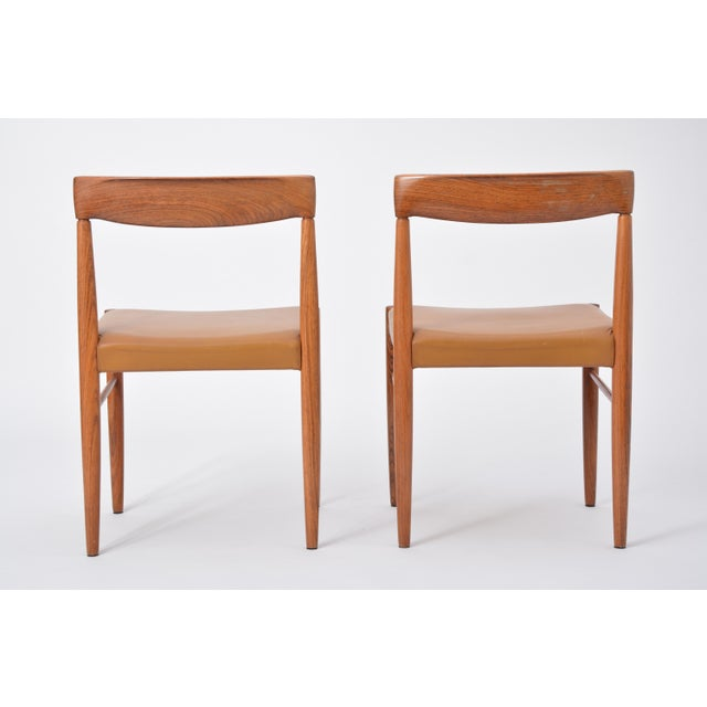 Brown Rosewood Dining Chairs by h.w. Klein for Bramin, Set of Four For Sale - Image 8 of 12