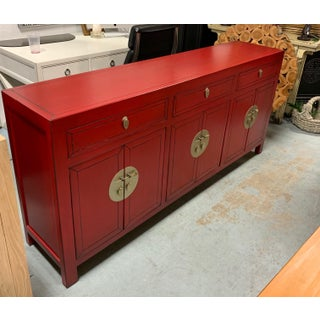 19th Century Vintage Qing Dynasty Ruby Red Sideboard Preview
