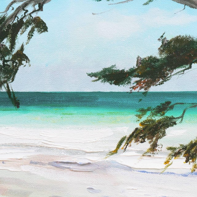 Canvas 'Carmel Beach, Low Tide' by Kathleen Murray, California Woman Artist For Sale - Image 7 of 9