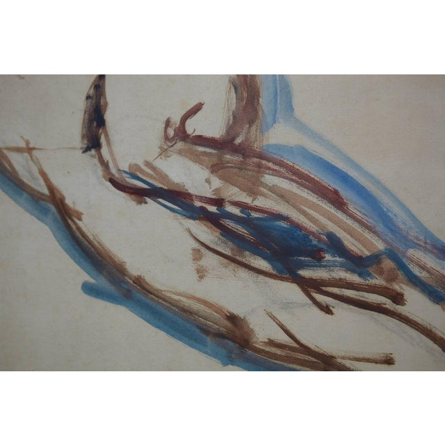 Maurice Henri Hensel, Watercolor on Board of Female Nude, Circa 1940s For Sale In New York - Image 6 of 8