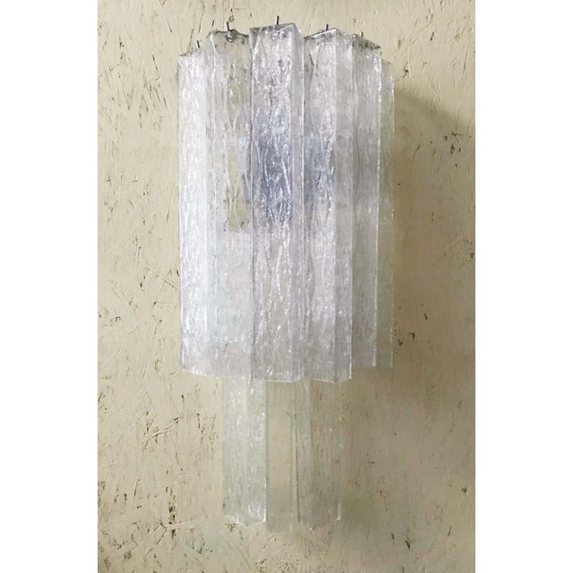 Italian Murano Glass Tubes Sconces - a Pair For Sale - Image 4 of 12