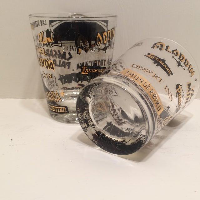 Mid Century Las Vegas Tumbler Glasses - A Pair - Image 6 of 7