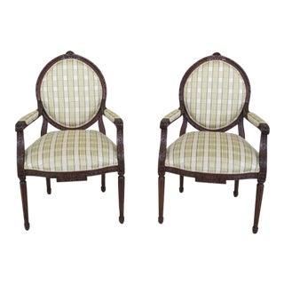 EJ Victor French Louis XV Style Armchairs - A Pair For Sale