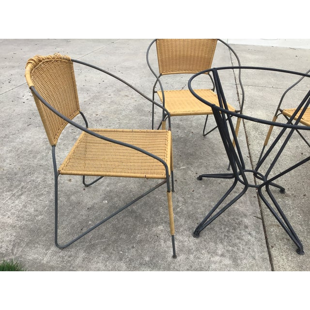 Salterini Maurizio Tempestini by Salterini Patio Table Chairs Dining Patio Last Call For Sale - Image 4 of 13